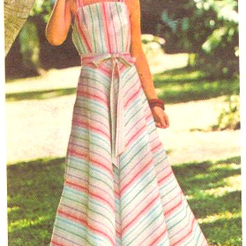 70s Flowing sundress retro 70s hippie Hipster Vintage sewing pattern Butterick 4836 Medium UNCUT