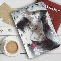Tokyo Ghoul Uta Leather Passport Wallet Case Cover