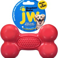 JW Pet Megalast Bone Dog Toy, Color Varies