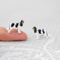 Cavalier charles king spaniel dog stud-  dog lover, ceramic stud, mini ,tiny dog