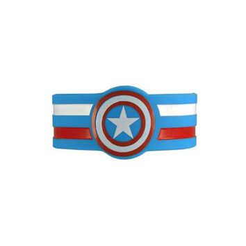 Captain America Shield Rubber Wristband Bracelet