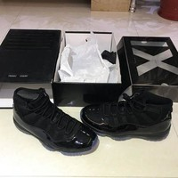 "Air Jordan 11 Retro ""Blackout"" 378037-005 Size 36-47"