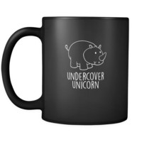 unicorns undercover unicorn 11oz Black Mug