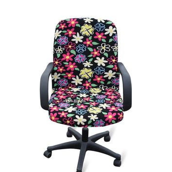 New Design Office Computer Chair Cover Stretch Armchair Covering Machinary Washable Chair Slipcover
