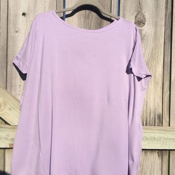 PIKO TOP - Lilac Short Sleeve Top - OOTD - Dolman Top - Spring/Summer Must Have