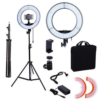 Photo Studio lighting 180PCS LED Ring Light 5500K Camera Phone Lighting Photography Dimmable Flash Lamp With 2M Photo Tripod