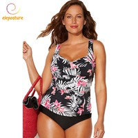 2018 Plus Size Swimwear Women Swimsuit Tankini Swimsuits High Waisted Bathing Suits Swimming Suit For Women Swimwear Tankini Set