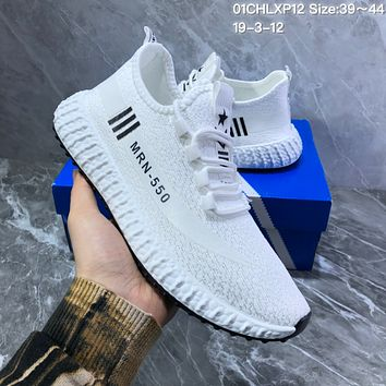 hcxx A1017 Adidas Yeezy MRN-550 Mesh Breathable Running Shoes White