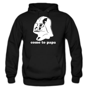 darth vader star come to papa hoodie