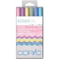 Copic Marker Ciao Markers, Pastels, 6-Pack