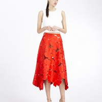 Cynthia Rowley - Oversized Floral Lace Midi Skirt | New Arrivals