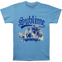 Sublime Men's  Kneeling Photo Slim Fit T-shirt Heather Light Rockabilia