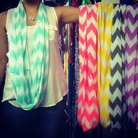 Spring chevron infinity scarves from PeaceLove&Jewels