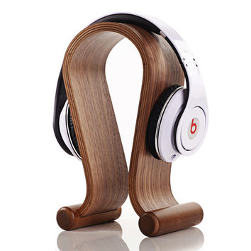Bamboo Wood Headphones Holders