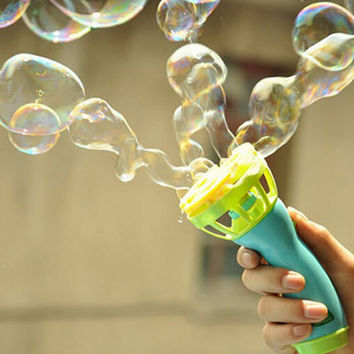 New Baby Kids Outdoor Game bolle sapone bambini Water Fun Play Toy Hand Held Bubble machine Blower Gun summer pistola burbujas