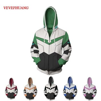 VEVEFHUANG Voltron Legendary Defender Lance Shiro jacket cosplay Princess Allura Costumes 3D Printing Sweatshirts Hooded sweater