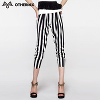 OTHERMIX 2016 summer new striped chiffon harem pantsankle-length casual pants women