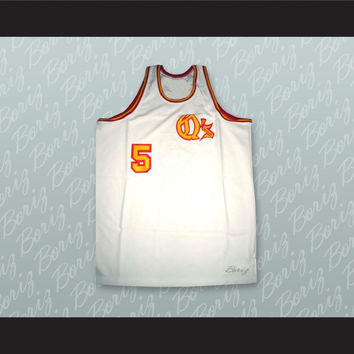 San Diego Travis Grant 5 White Basketball Jersey Stitch Sewn