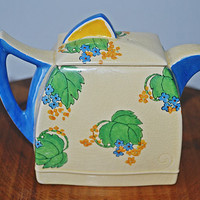 Royal Doulton Teapot, Art Deco, 1920's, Pattern Number D5236 Sylvia