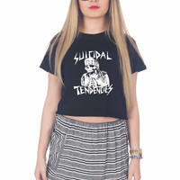 Suicidal Tendencies Skeleton For Womens Crop Shirt **
