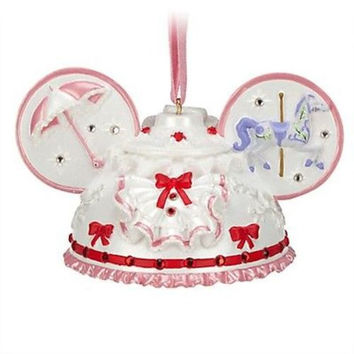 disney parks christmas mary poppins ear hat ornament new with tag