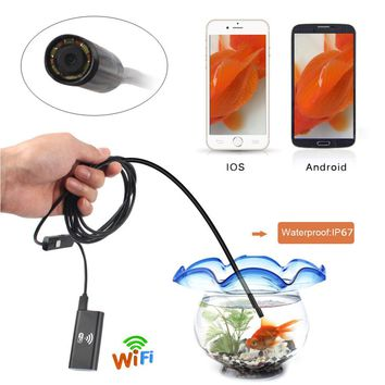 100% Brand New Wifi Wireless Borescope Endoscope Camera 2MP HD 8mm IP67 Tube Waterproof Inspection Camera for IOS Android