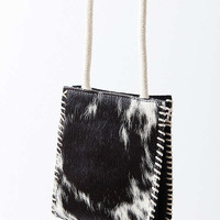 Calf Hair Whipstitch Pouch Crossbody Bag | Urban Outfitters