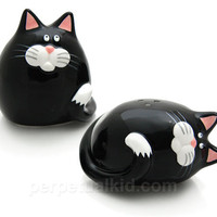 FAT CAT SALT & PEPPER SHAKERS