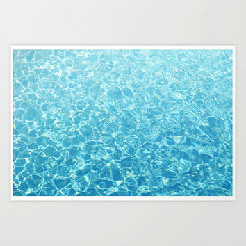Crystal Oceans - Wall Art Photography Print, Beach Tropical Accent, Caribbean Style Surf Interior Backdrop. In 8x10 11x14 16x20 20x30 Inches