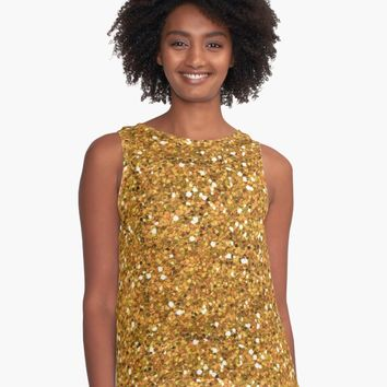 'All That Glitters is Gold' Contrast Tank by phantastique