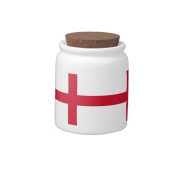 England Flag Candy Jar