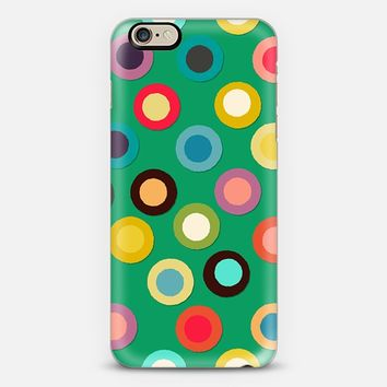 green pop spot iPhone 6 case by Sharon Turner | Casetify