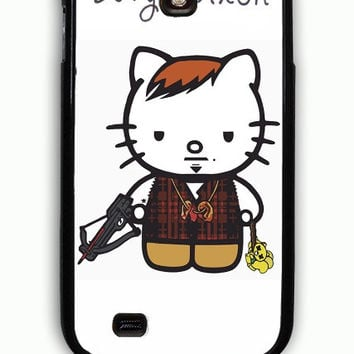 Samsung Galaxy S4 Case - Rubber (TPU) Cover with Daryl Dixon Hello Kitty Rubber Case Design