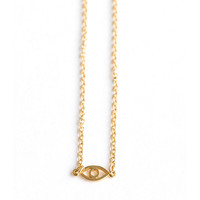 Meridian Avenue | Mini Evil Eye Gold Bracelet