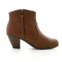 Western Zip Ankle Boot | Trendy Boots at Pink Ice
