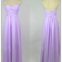 GORGEOUS LILAC A-LINE SWEETHEART FLOOR LENGTH PROM DRESS from FancyGirl