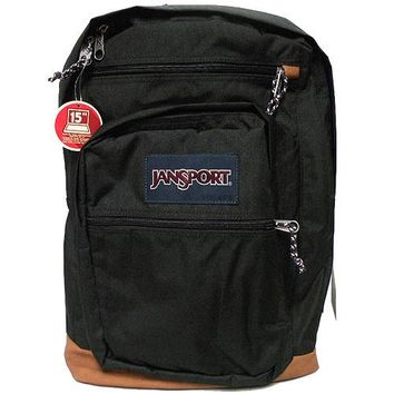 "JanSport Classic COOL STUDENT School BACKPACK Soild Color - BLACK _ 15"" Laptop"