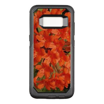 Orange Rhododendrons Floral OtterBox Commuter Samsung Galaxy S8 Case