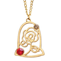 Beauty and the Beast Rose Pendant Necklaces for Women