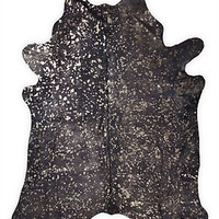 Storm with Bronze Metallic Brazilian Cowhide Rug