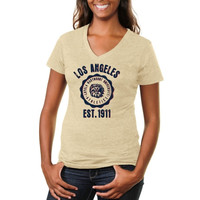 Loyola Marymount Lions Ladies Old-School Seal Tri-Blend V-Neck T-Shirt - White