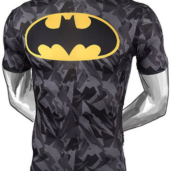 Camo Batman Pattern Short Sleeve T-Shirt