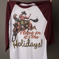 "Gina ""Hang On It's the Holidays"" Tee"