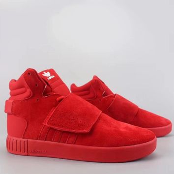 Adidas Tubular Invader Strap Fashion Casual High-Top Old Skool Shoes-11