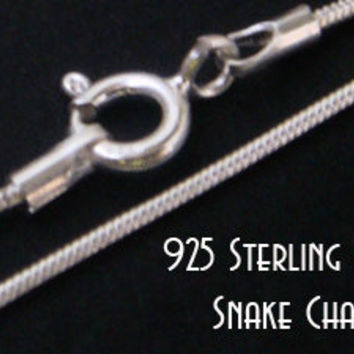 "Long Silver Chain, 925 Sterling Silver Chain, 80cm 32"" Long x 1.2mm 