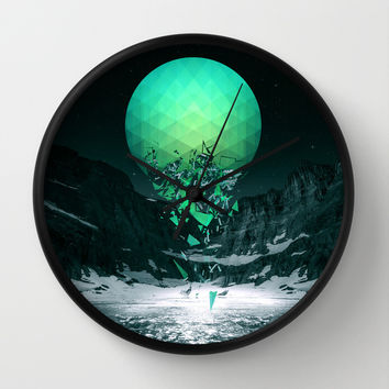 Fall To Pieces Wall Clock by Soaring Anchor Designs | Society6