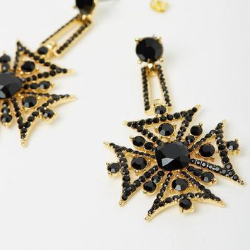 Majesty Earrings Gold Black