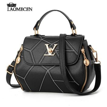 Women Crack Handbag Vintage Casual Doctor Bag Solid Leather Boston bags Fake Designer Handbag Women Bolsos Mujer De Marca Famosa