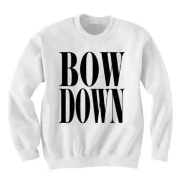 BEYONCE BOW DOWN SWEATSHIRT ON THE RUN CONCERT TICKETS T-SHIRT YONCE I LOVE BEY BEY FANS WOMENS SHIRT FLAWLESS BEYONCE FANS