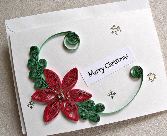 Handmade Paper Quilled Christmas Card From Sayitwithblooms On